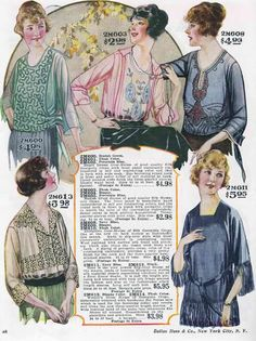 Pretty little blouses from the 1920s.