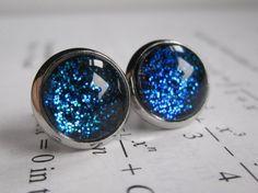Blueshift  Earring studs  science jewelry  by DarkMatterJewelry, $11.00