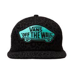 Shop for Vans Cheetah Trucker Hat, Black, at Journeys Shoes. Vans logo trucker hat featuring a cheetah print front and mesh back. Adjustable snapback.