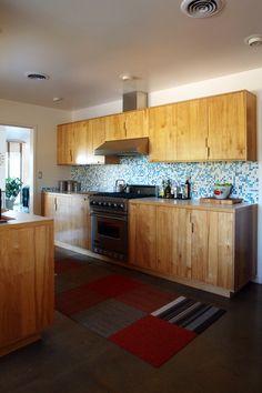 beautiful handmade California kitchen