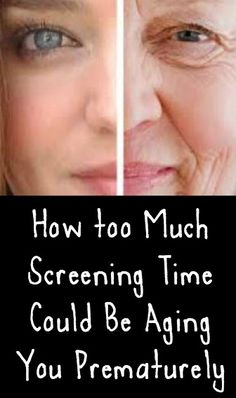 How too Much Screening Time Could Be Aging You Prematurely ~ http://positivemed.com/2015/01/26/much-screening-time-aging-prematurely/