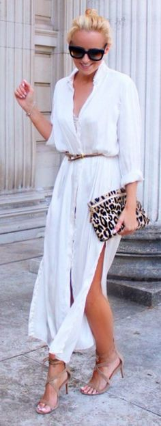 Summer Fashion lovely outfit Maxi Shirt Dress