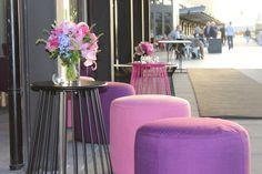 Wedding styling at The Cargo Hall South Wharf.   www.belleweddings.com.au   #melbourneweddings #eventsmelbourne #weddingplanner #weddingstyling #pink #purple #lilac