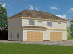 4-Car Garage Apartment, 012G-0022