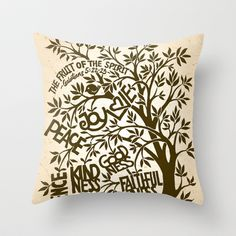 The Fruit of the Spirit Throw Pillow by Liyin - $20.00