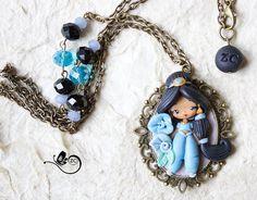 collana Jasmine / disney fimo / zingara di ZingaraCreativa su Etsy