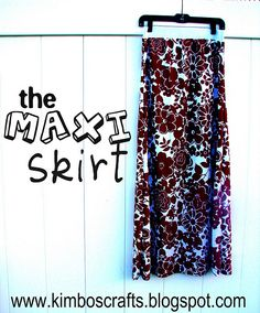 diy maxi skirt - A girl and a glue gun Diy Maxi Skirt, Cute Maxi Skirts, Maxi Skirt Tutorial, Maxi Dresses, Sewing Hacks, Sewing Crafts, Sewing Projects, Sewing Ideas, Sewing Tips