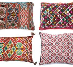 Get Geometric with Pillows from Baba Souk  The woven designs would translate well into beads...