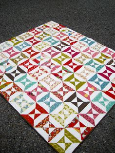 Wonderland Double Hourglass Quilt by kelbysews on Etsy