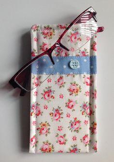 Cath Kidston Hampton Rose  Fabric Glasses Case by sewmoira on Etsy
