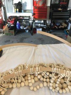 DIY Pottery Barn - Inspired Beaded Chandelier - Living with Lady Wood Bead Chandelier, Chandeliers, Boho Lighting, Diy Pendant Light, Southern Living Homes, Pottery Barn Inspired, Crate And Barrel, Barn Wood, Easy Diy