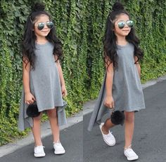 little-girl-hairstyles - Fab New Hairstyle 1 Little Girl Outfits, Cute Girl Outfits, Cute Outfits For Kids, Little Girl Fashion, Fashion Kids, Toddler Fashion, Look Fashion, Stylish Kids, Baby Dress