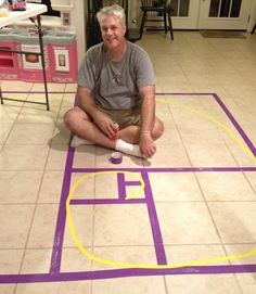 We did this for a 3 year old Fibonacci Birthday Party - but you can do it on your floor anytime!