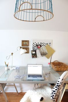 A Cramped Office Gets an Airy Makeover  - HouseBeautiful.com
