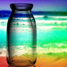 beach through a glass