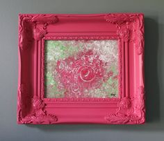 Cabbage Rose Shabby Chic Abstract Impressionism by lotsahappy, on Etsy SOLD