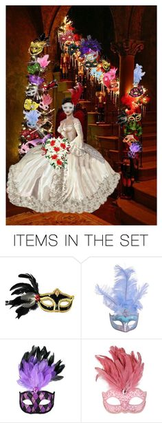 """""""Masquerade Bride"""" by shelley-harcar ❤ liked on Polyvore featuring art"""