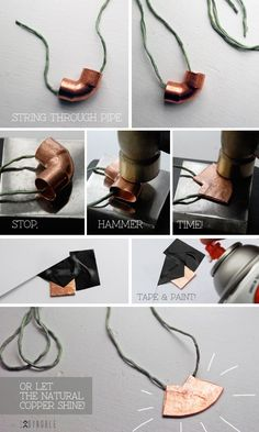 DIY Copper Pipe Necklace | DiyReal.com