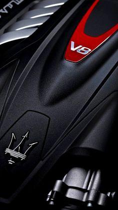 Maserati V8 engine.