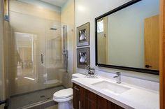 Glass Shower, Bathroom, Modern Home in Burlingame, California