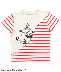 Moomin Short Sleeve(Sliding Little My)(KidsT) Printed Shirts, Tee Shirts, T Shirt Painting, Painted Clothes, Kids Prints, Kids Wear, Shirts For Girls, Kids Boys, Boy Outfits