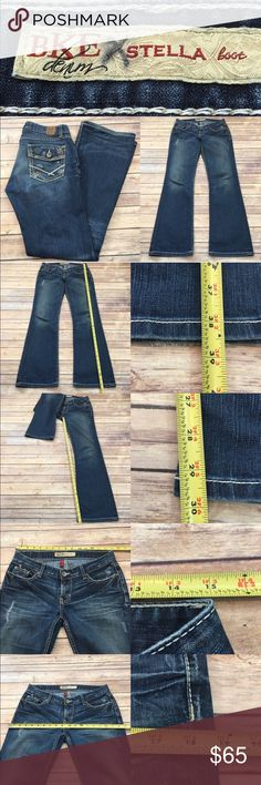 Sz 28 BKE Stretch Stella Bootcut Distressed Jean Measurements are in photos. Normal wash wear, no flaws. F3  I do not comment to my buyers after purchases, due to their privacy. If you would like any reassurance after your purchase that I did receive your order, please feel free to comment on the listing and I will promptly respond.   I ship everyday and I always package safely. Thank you for shopping my closet! BKE Jeans Boot Cut