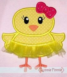 Tutu Chick Applique - 3 Sizes! | Easter | Machine Embroidery Designs | SWAKembroidery.com Lynnie Pinnie