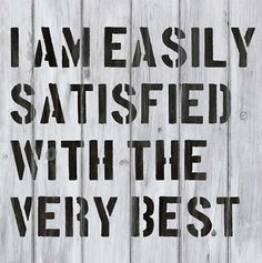 Easily Satisfied by Red Ink Design at Image Vault - prints Lampshades, Word Art, How To Look Pretty, Wall Decals, Fine Art Prints, Typography, Wisdom, Ink, Words