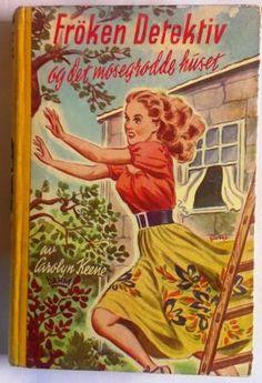 Carolyn Keene  Frøken Detektiv og det mosegrodde huset  Nr.22 i serien om Frøken Detektiv - detektiv Nancy Drew  Utgitt av Damm 1958