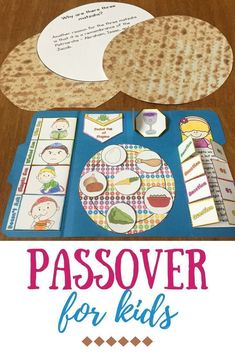 Passover for kids - This Passover Lapbook is a fun interactive way for your Sunday School or Hebrew School kids to learn about the holiday. #hebrewforkids