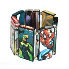 Recycled Bracelet from Comic Books