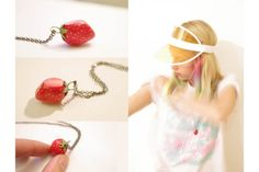 Junk - Strawberry - Very Limited handmade jewels by Morgane Morel