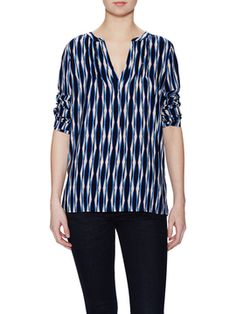 Batik Striped Peasant Top from Plenty by Tracy Reese on Gilt