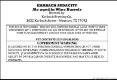 Karbach - Audacity Ale Aged in Wine Barrels