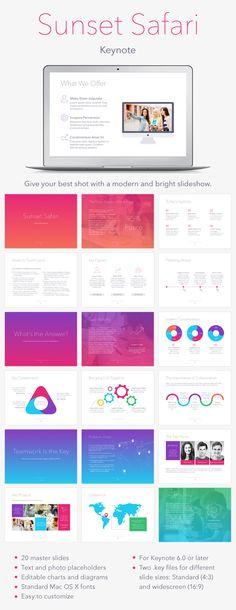 Sunset Safari Keynote Template #design #slides Download: http://graphicriver.net/item/sunset-safari-keynote-template/13170568?ref=ksioks