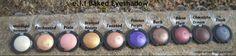 Moonlight serenade (#811277) - Enchanted (#81271) - Pixie (#81272) - Beauty Bronzed (#81278) - Toasted (#81273) - Passion Purple (#81279) - Bark (#81274) - Burnt Plum (#81275) - Chocolate dream (#81280) - Dusk (#81276) http://www.eyeslipsface.fr/produit-beaute/ombre-a-paupieres-marbree