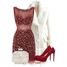 Red&White by maryam098 on Polyvore featuring polyvore, fashion, style, Jovani, Forever 21 and Marchesa