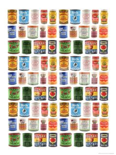 Old Canned Food Labels Print at Art.com