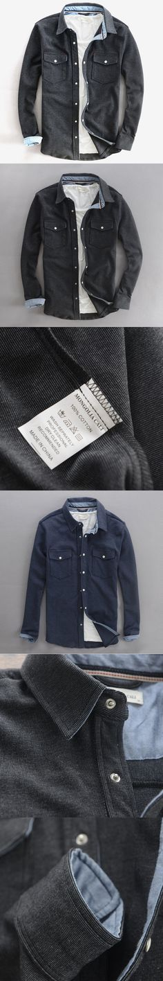 2017 Winter long-sleeved cotton shirts men brand colthing men shirt slim fashion shirt mens thick shirts male camiseta chemise