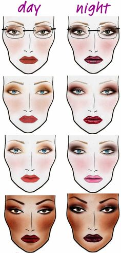 Day to Night Makeup  The Best Makeup Cheat Sheets You'll Ever Need • Page 5 of 5 • BoredBug