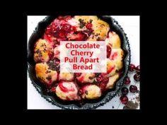 Chocolate Cherry Pull Apart Bread Recipe Video Savoury Baking, Bread Baking, Chocolate Cherry, Homemade Chocolate, Muffin Recipes, Bread Recipes, Bread Recipe Video, Pull Apart Bread, Bread Bun
