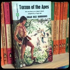 """""""Another Four Square paperback,  Tarzan of the Apes by Edgar Rice Burroughs. This edition published in 1959. Four Square went on to publish all of ERB work…"""""""