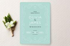 Bookbinder Wedding Invitations by Jennifer Wick at minted.com