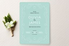 Bookbinder Wedding Invitations by Jennifer Wick | Minted