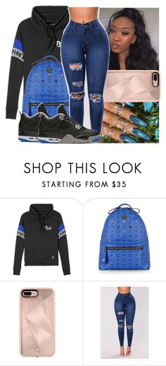 """"""""""" by saditydej ❤ liked on Polyvore featuring Victoria's Secret, MCM, Rebecca Minkoff and NIKE"""