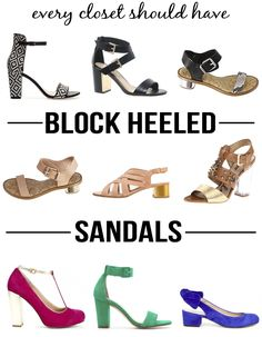 Every Closet Should Have – Block Heeled Sandals