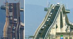 15 estradas extremamente perigosas Scary Bridges, Tottori, Dangerous Roads, The Second City, Go To Japan, Roller Coaster Ride, Golden Gate Bridge, Great Photos, Best Funny Pictures