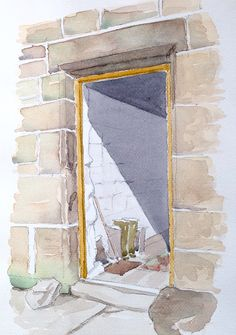 Farm House door ~ sketch ~ John Edwards