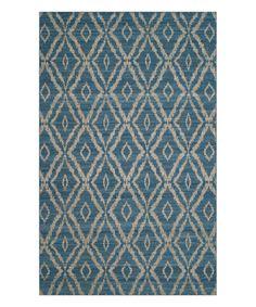 Loving this Blue & Gray Bevon Wool Rug on #zulily! #zulilyfinds