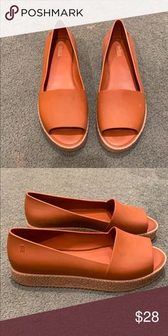 Melissa Shoes They are plastic shoes. Barely worn and have about an inch thick sole Melissa Shoes Flats & Loafers Loafer Flats, Loafers, Plastic Shoes, Melissa Shoes, Best Deals, Brown, Closet, Things To Sell, Fashion